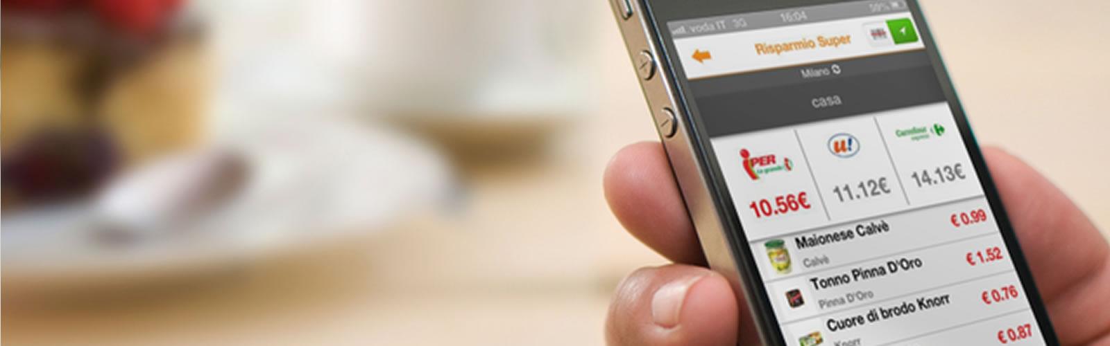 Risparmio Super, l'app che confronta i prezzi nei supermercati