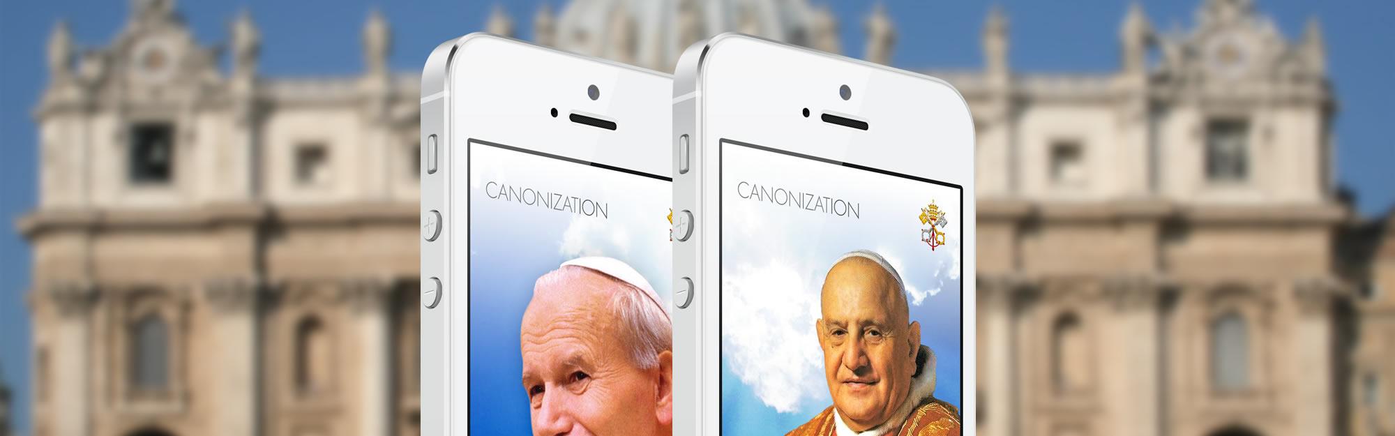 Iquii lancia le App ufficiali per la canonizzazione di Giovanni Paolo II e Giovanni XXIII