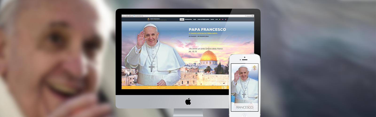 Papa Francesco: pubblicato Sito ufficiale del viaggio in Terra Santa e App mobile