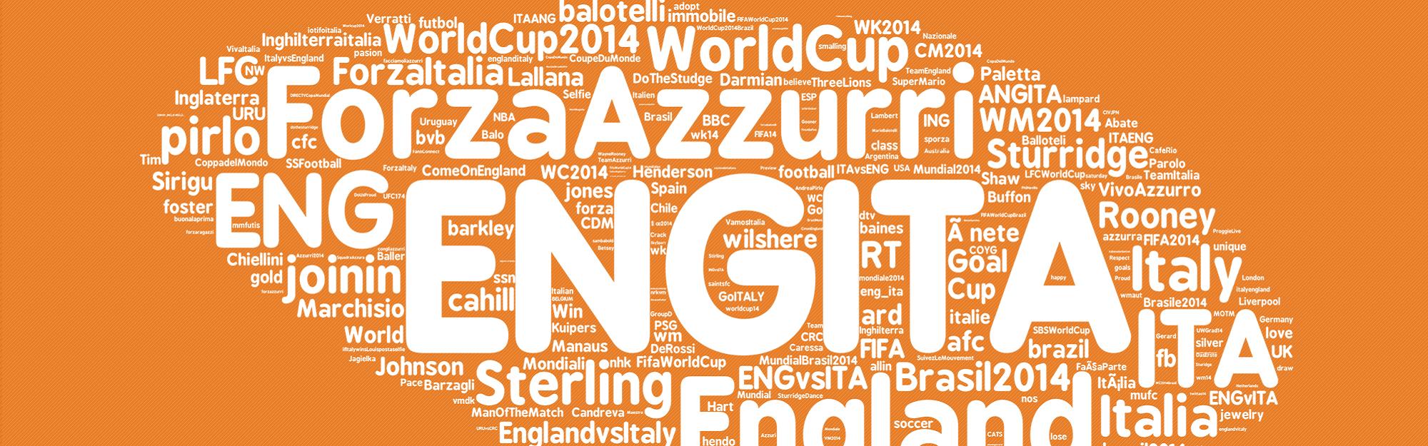 Italia-Inghilterra: data analysis e gradimento delle conversazioni Twitter con Parterre [INFOGRAFICA MONDIALI 2014]