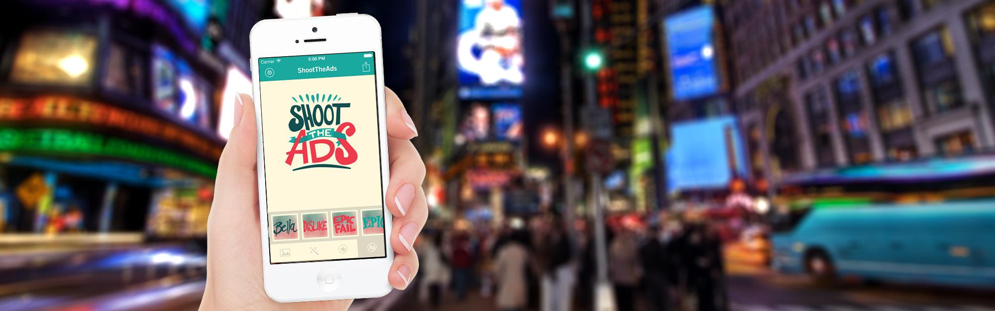 Shoot the ads: l'app per condividere e personalizzare le pubblicità preferite