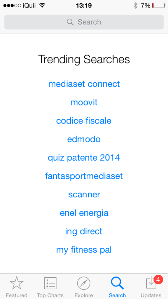 Trending Searches App Store