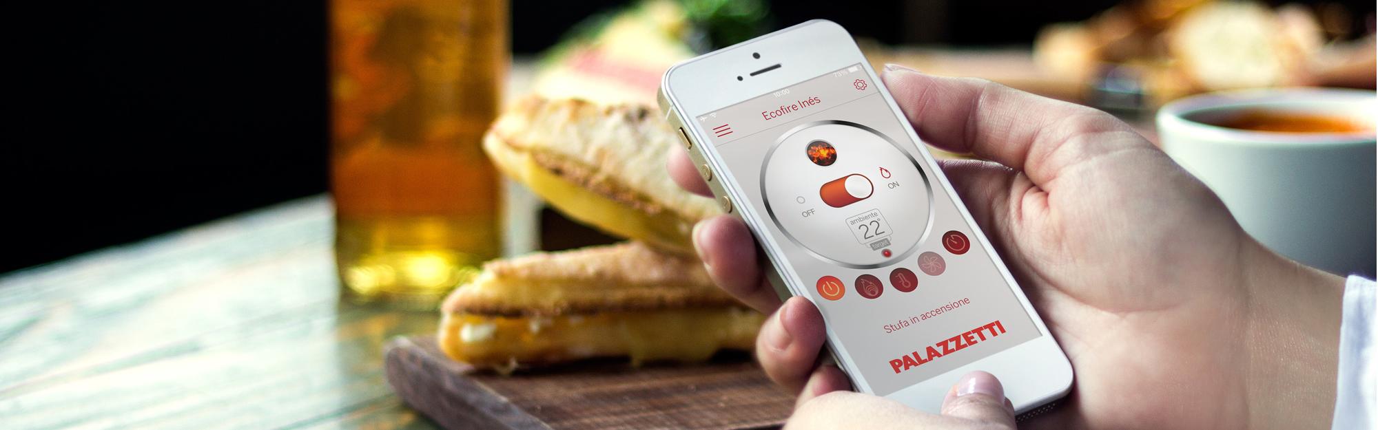 Palazzetti lancia l'app che connette la stufa di casa con lo smartphone