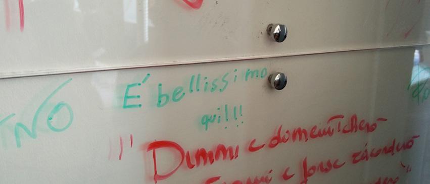 Quriosity Camp: le scritte dei bambini sul Wall