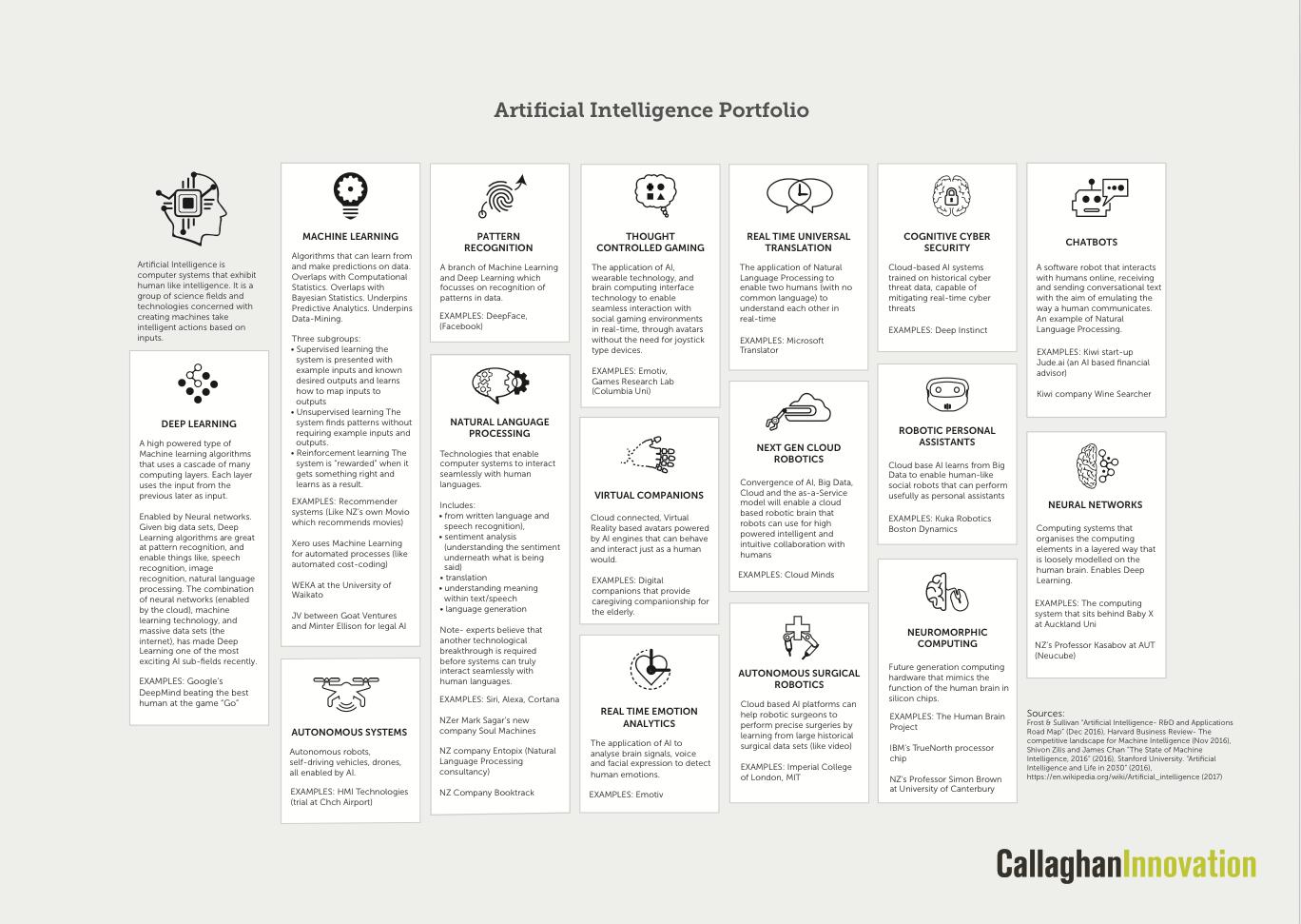 Callaghan Innovation AI portfolio