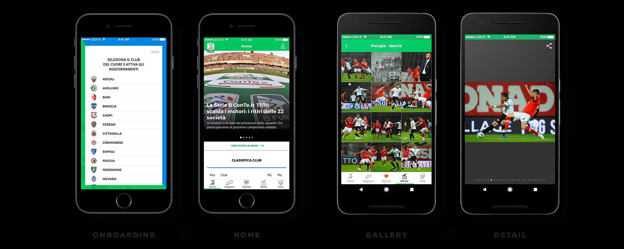 Lega B Web Mobile Redesign