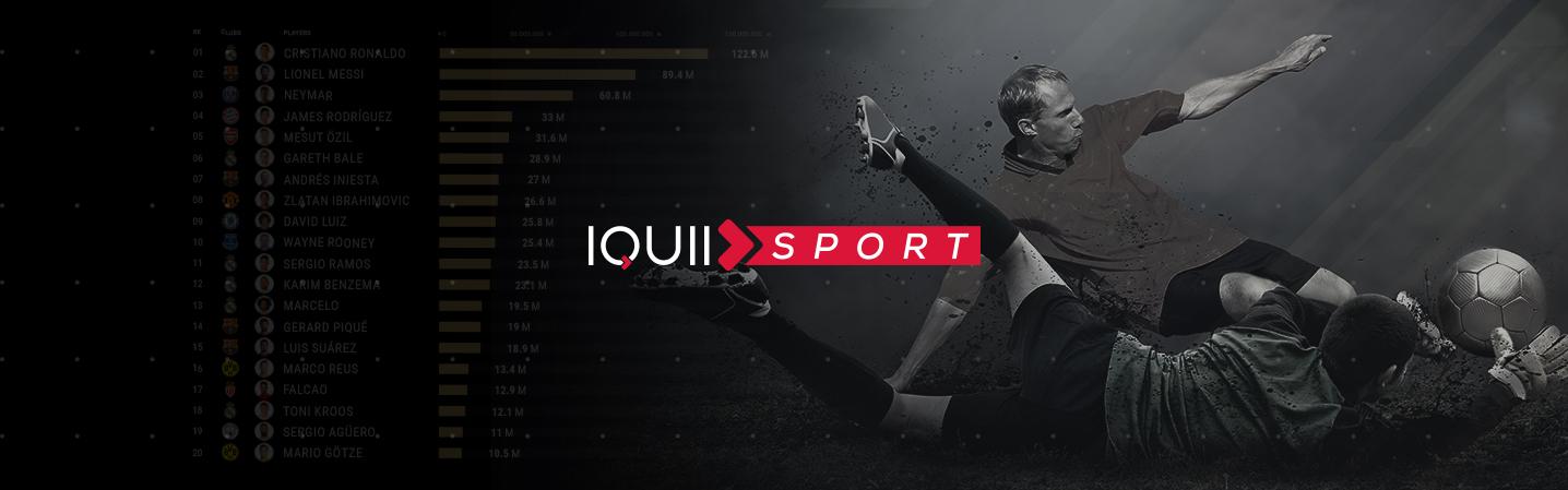 """IQUII Sport pubblica l'update ufficiale del report """"European Football Club"""" con dati esclusivi anche sui top player europei"""