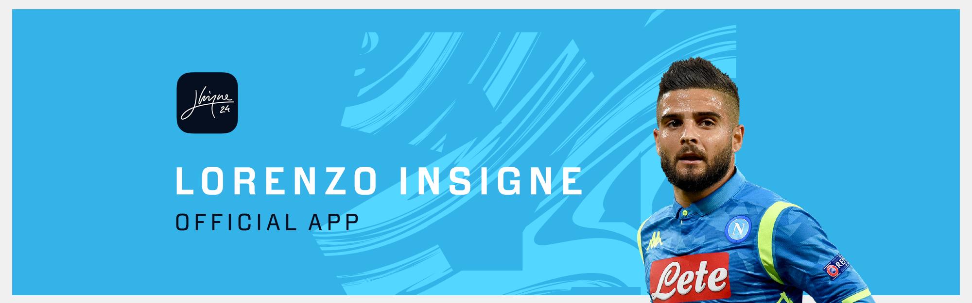 Il Napoli lancia l'app ufficiale di Lorenzo Insigne
