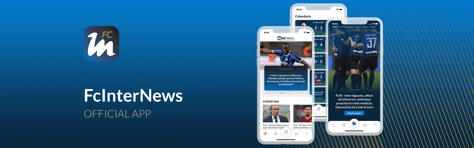 FcInterNews si affida a IQUII per il restyling dell'app di informazione dedicata ai tifosi nerazzurri