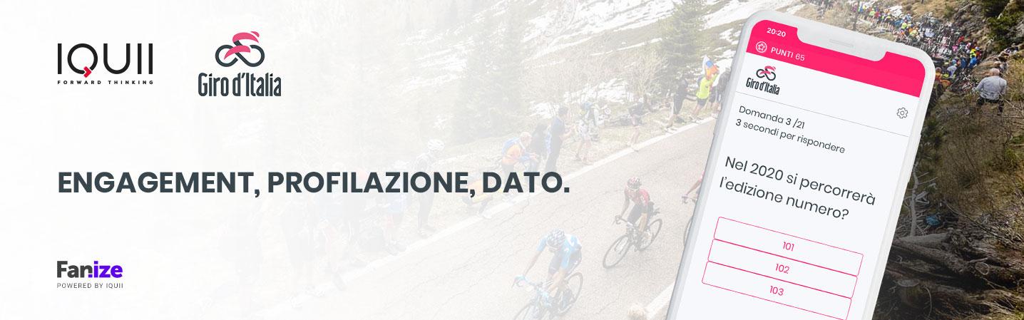 IQUII per il Giro d'Italia 2020. Entriamo nel mondo del ciclismo portando Fanize dentro la corsa rosa