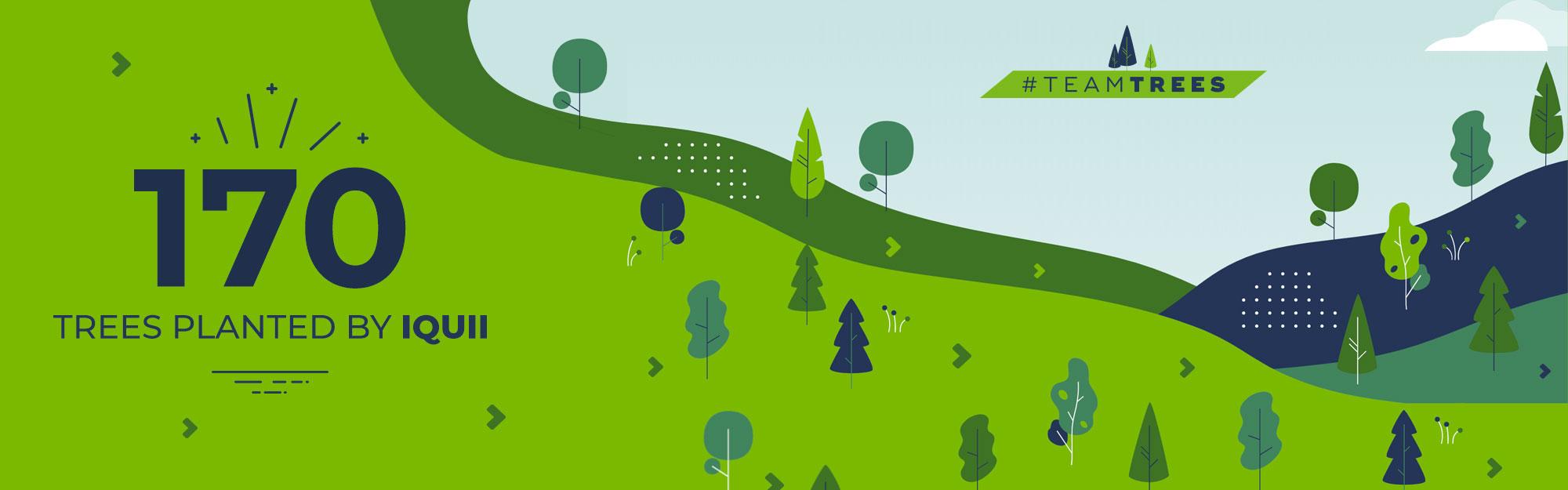 170 nuovi alberi piantati con #TEAMTREES: l'impegno del team IQUII per un progresso sostenibile