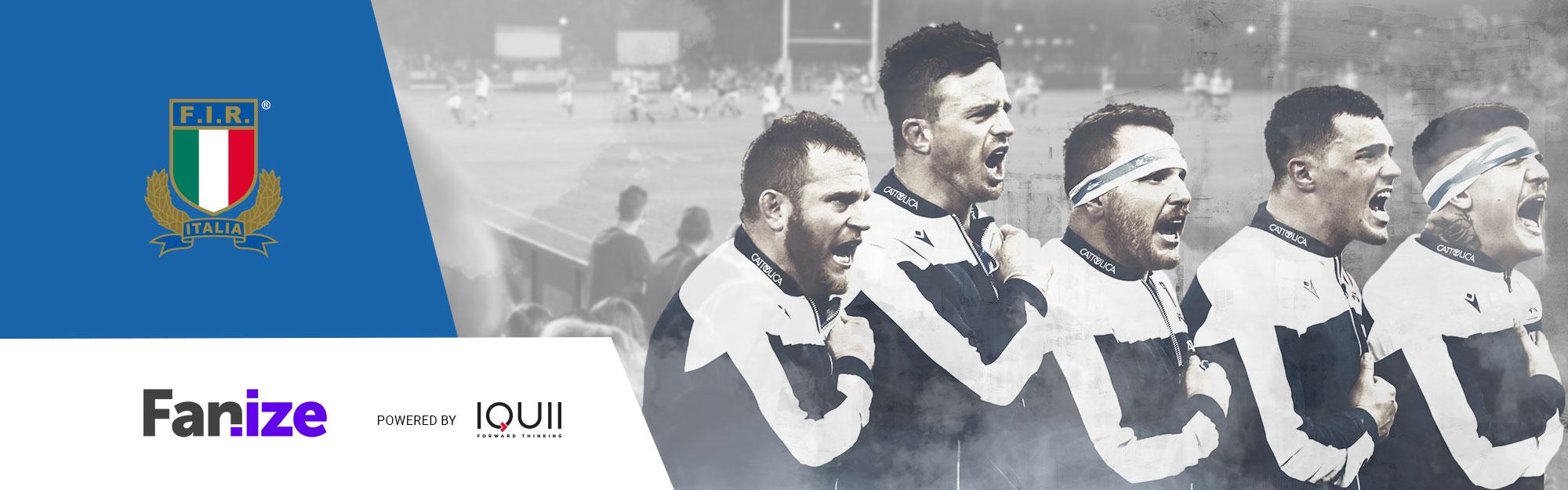 FIR e IQUII lanciano Fanize sui canali del rugby italiano subito in palio un'esperienza unica in vista dell'Inghilterra