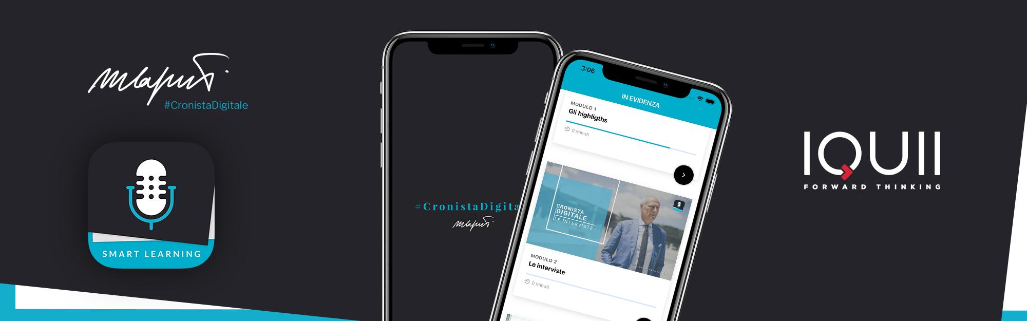 La formazione dei cronisti sportivi del futuro, diventa un'app grazie al supporto tecnologico di IQUII al progetto Cronista Digitale di Massimo Caputi