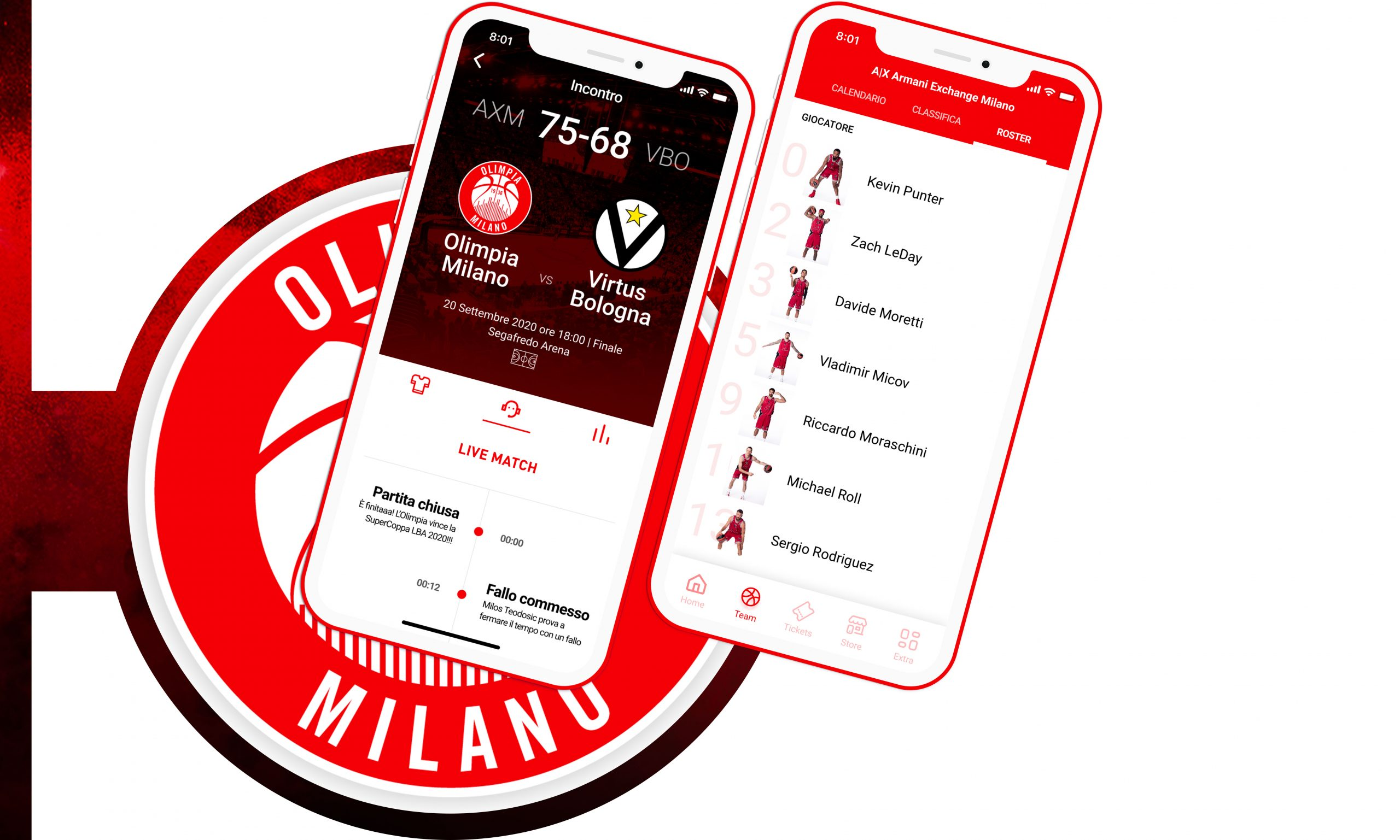 Feature Olimpia Milano App | IQUII