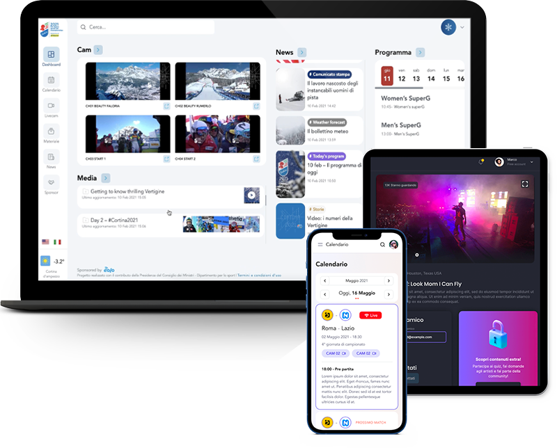 Virtual Media HUB - Mockup