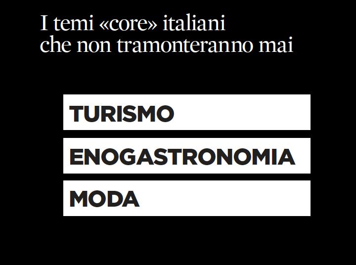 3 iquii argomenti principali twitter turismo italia