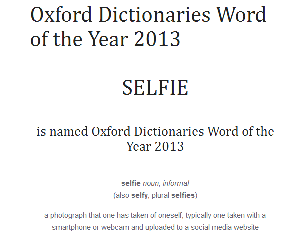 Selfie - Word of the year 2013